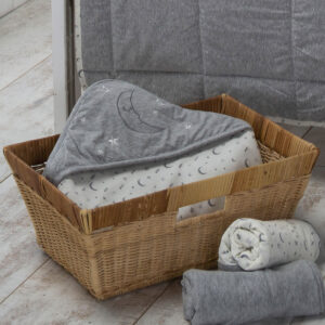 Moonlight Hooded Wrap Blanket from the Moran Home Kids Nursery Collection