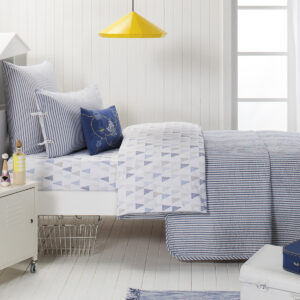 Cameron Coverlet in Blue from the Moran Home Bedroom Collection
