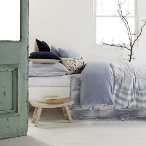 Kipling Bed Set in Blue from the Moran Home Bedroom Collection